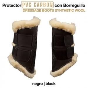 Protector Pvc Carbon Con Borreguillo Negro 300x300